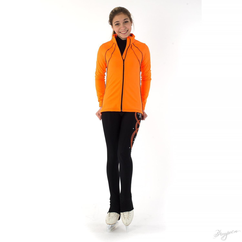 Оранжевая кофта